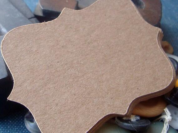 bracket kraft gift tags wedding escort cards - set of 100 small