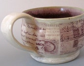 Ephemera Cappuccino Mug - Handmade Stoneware Pottery