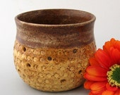 Honeycomb Candle Holder - Wheel Thrown Pottery - Stoneware