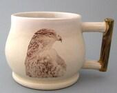 Coffee Mug - Hawk - Handthrown Stoneware Pottery