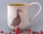 Stoneware Mug - Mottled Duck  - 12 oz - Hand Thrown Stoneware