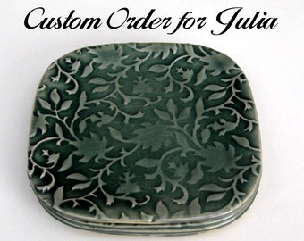 Custom Order for Julia - Set of 4 Translucent Vines Small Plates