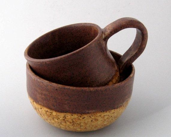 Mug and Bowl  Breakfast Set - Honeycomb Series