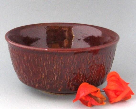 Textured Serving Bowl / Dip Bowl - 8 oz  - Wheel Thrown Pottery - Stoneware