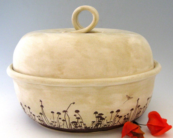 Lidded Casserole -  Bradshaw Meadow Series - Wheel Thrown Stoneware Pottery