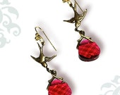 Ruby Crystal Sparrow Earrings - Voyageur - The Alhambra Collection