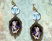 Marie Antoinette Petite Rose Earrings - Vintage Paris Fashion - Paris Cottage Chic Petite Collection