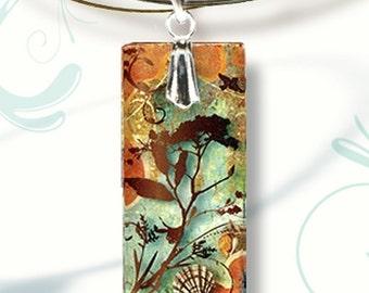 Ocean Sands Necklace - AquaForms-Reversible Glass Art Necklaces