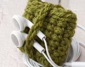 iPod Touch Nano Handmade Case Sock Cozy 6th Generation Olive Green