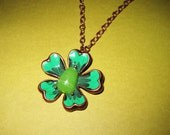 Clover Flower Necklace St. Patrick's Day Lucky Irish Green Shamrock Pendant Charm St. Patrick's Day Jewelry FREE SHIPPING To USA & Canada