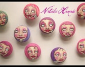 Decorative drawer pull FACE handpainted Whimsical