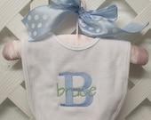 Monogrammed Baby Bib boy or girl
