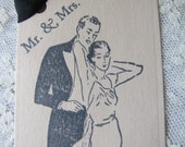 Mr and Mrs Vintage Couple Wish Tree Wedding Tags 50