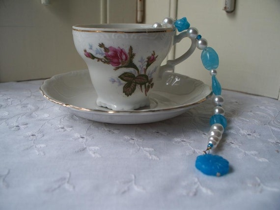 Items similar to tea party favors beaded victorian tea bag for Victorian tea party supplies