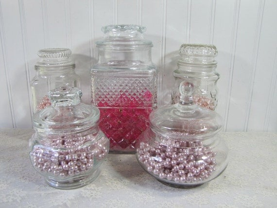 Wedding Candy Buffet Jar Collection Vintage Apothecary Storage Baby Shower Spa set 3D