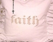 Made To Order White Linen Cotton Blend Ruffled Slip Cover ONLY French Nordic GREY Faith Design