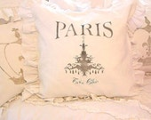 Made To Order Shabby French Chic Linen Cotton Blend SLIP COVER ONLY Paris Chandelier Design (Black)