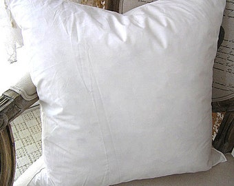 Cotton Fabric Duck Feather Pillow Insert Supply (20 x 20) and (24 x 16)