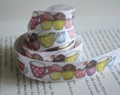 Cupcake Teatime cotton tape