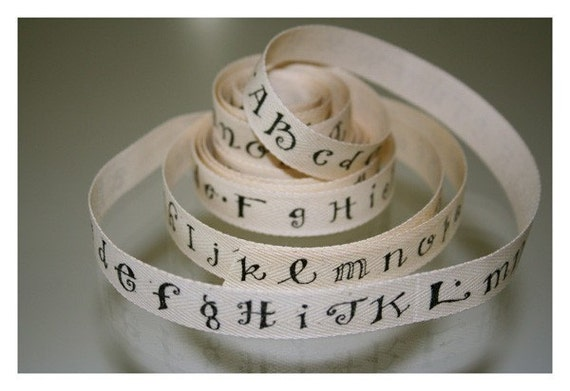 Alphabet Cotton Tape