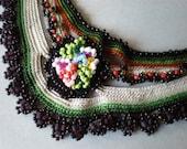 Lilium Martagon... Freeform Crochet Necklace