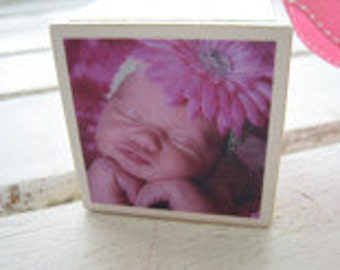 Add a Photo - Around the Block Birth Announcement, Keepsake, or Ornament