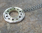 Recycled Computer Hard Drive Necklace