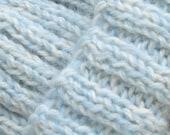 luxury icy blue beanie