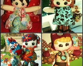 2 Whimsy Patch Doll pdf patterns of choice