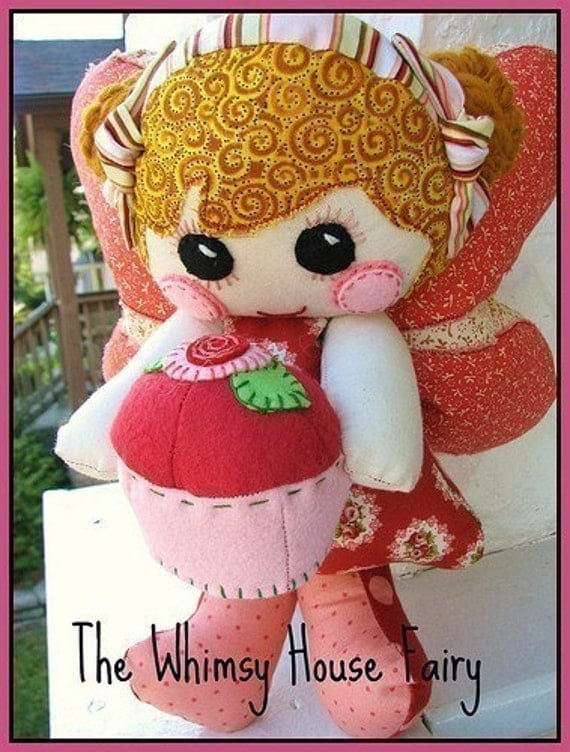 Whimsy Patch House Fairy PDF Pattern and Mod Dollie Pattern