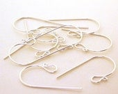 Handmade Sterling Silver French Hook Ear Wires