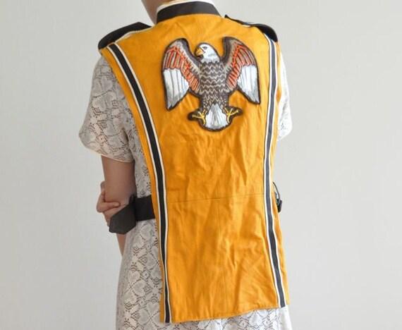 Eagle band vest placket americana 50s college