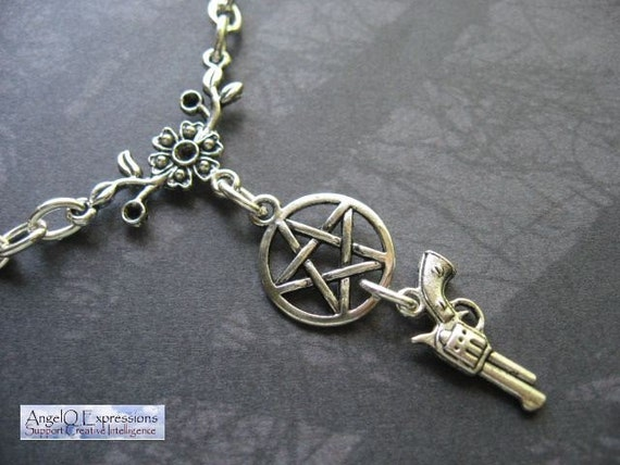TODAY'S DEAL Supernatural Girls Just Wanna Hunt Demons Necklace