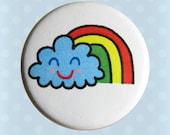 Jelene Rainbow Smile Cloud - 1 Inch Pinback Button