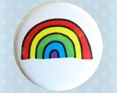 Happy Smile Rainbow Time - 1 Inch Pinback Button