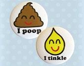 Poop and Tinkle Magnet Set