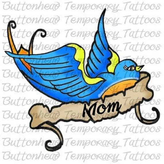 Customized Temporary Tattoo (Swallow)