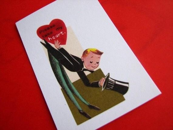 25 Vintage Style Mini Valentine Cards