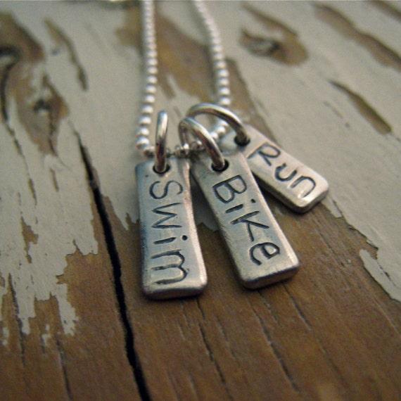 reserved - triathlon necklace