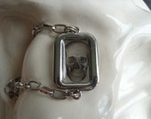 See-through Skull Picture Charm Bracelet