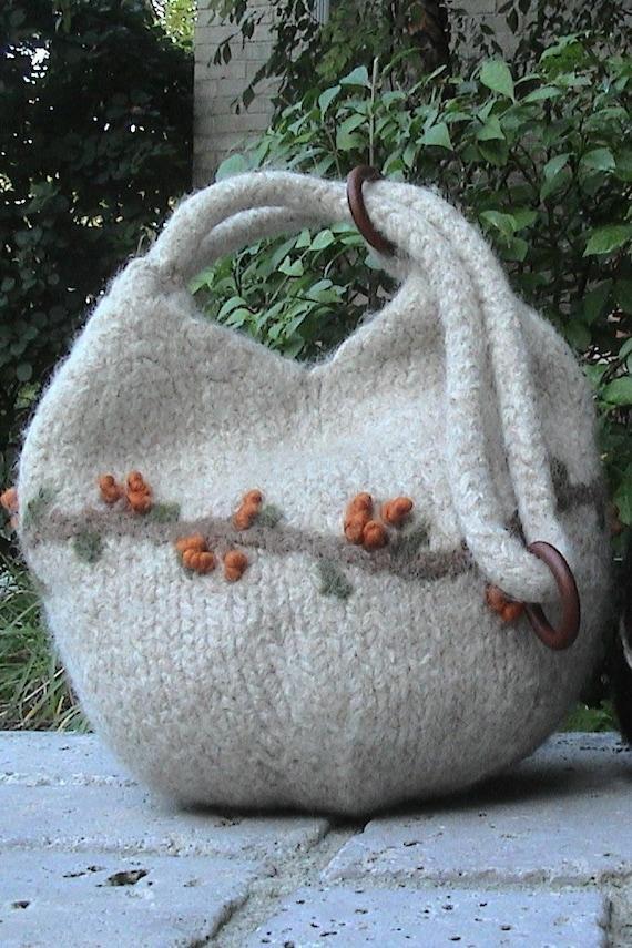 DOUBLE Dumpling Bag Kit including Interweave Knits Fall 08' magazine