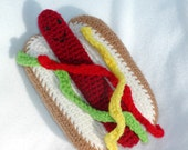 Crochet Hot Dog Play Food