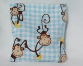 Boo boo pack- hot/cold therapy rice bag-removeable cover-Blue Monkeys Bananas
