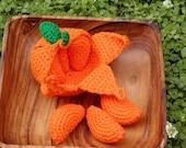 Crocheted Peelable Orange Amigurumi---PDF--PATTERN