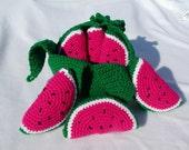 Crocheted Peelable Watermelon-----PDF--PATTERN