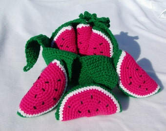Crocheted Peelable Watermelon-----PDF--PATTERN