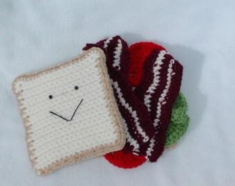 Crocheted BLT Sandwich----PDF PATTERN