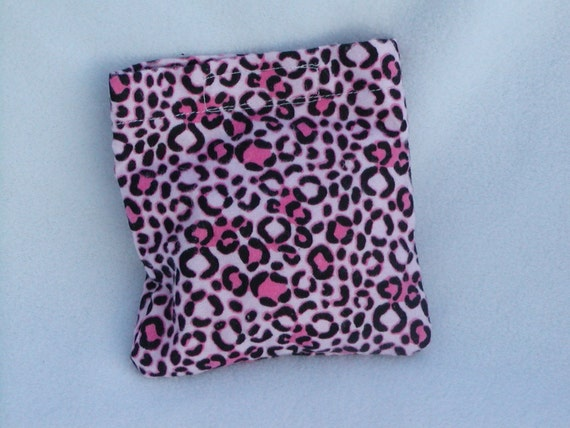 Boo boo pack- hot/cold therapy bag- pink leopard print