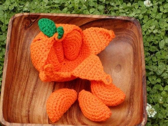 Items similar to Crocheted Peelable Orange Amigurumi---PDF ...