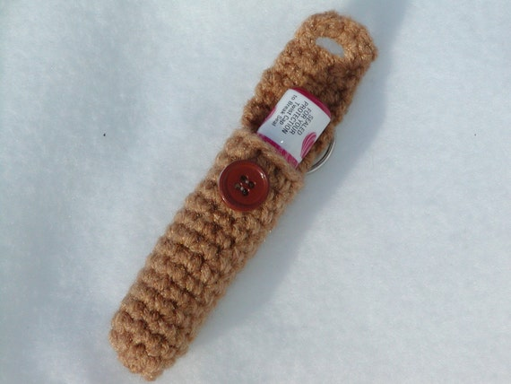 Keychain lip balm cozy-Warm Brown-Black Friday/Cyber Monday
